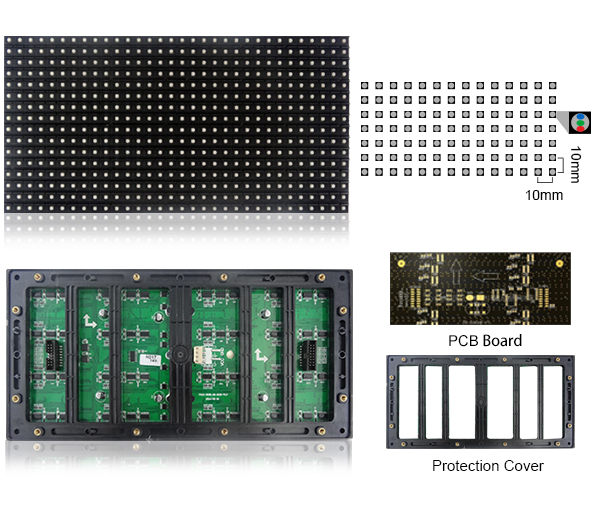 Module Led Outdoor P10SMD: size:320mm x 160mm,Module Led Outdoor P10SMD: size:320mm x 160mm